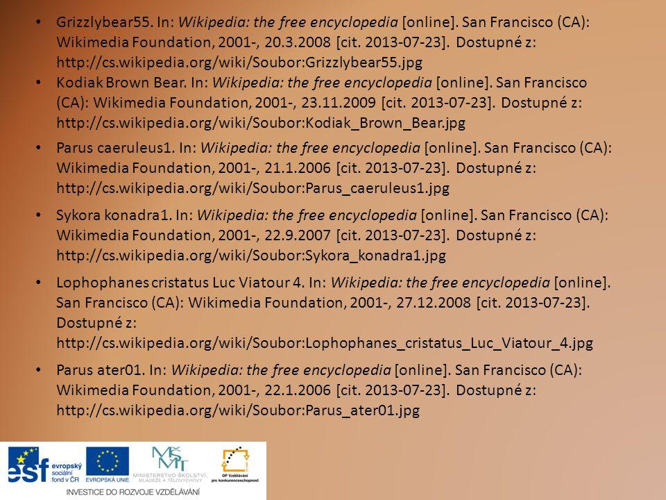 Grizzlybear55. In: Wikipedia: the free encyclopedia [online]